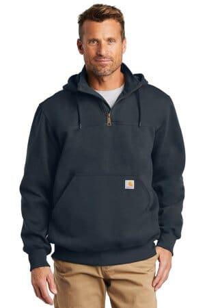 CT100617 carhartt rain defender paxton heavyweight hooded zip mock sweatshirt