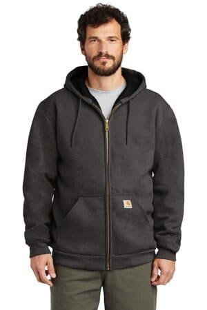 carhartt rain defender rutland thermal-lined hooded zip-front sweatshirt ct100632