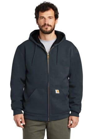 carhartt rain defender rutland thermal-lined hooded zip-front sweatshirt ct100632