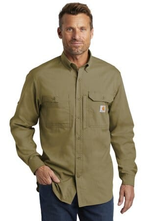 carhartt force ridgefield solid long sleeve shirt ct102418