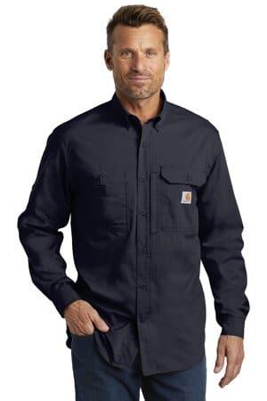 carhartt force ridgefield solid long sleeve shirt ct102418