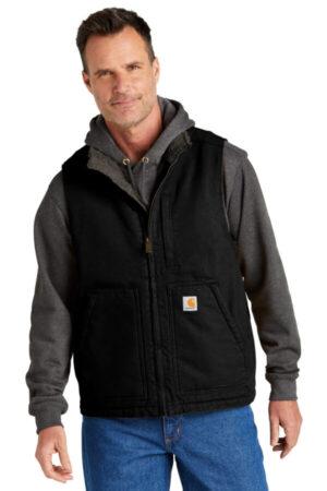 CT104277 carhartt sherpa-lined mock neck vest