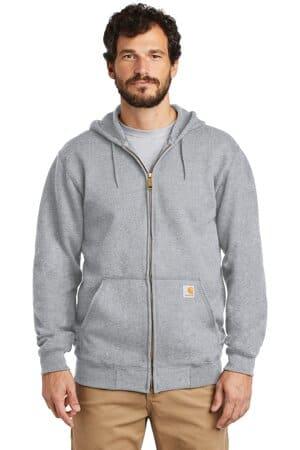 carhartt midweight hooded zip-front sweatshirt ctk122