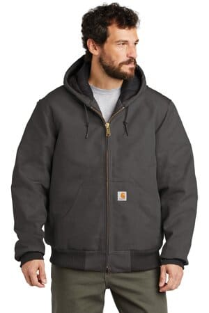 CTSJ140 carhartt quilted-flannel-lined duck active jac