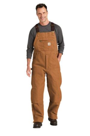 CTT104393 carhartt tall firm duck insulated bib overalls