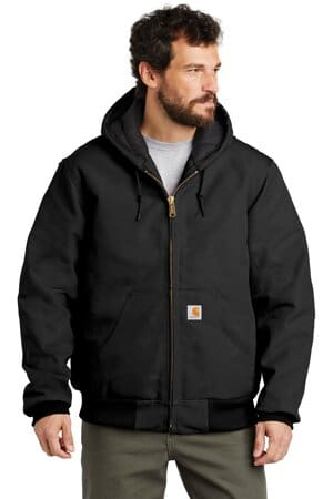 carhartt tall quilted-flannel-lined duck active jac cttsj140