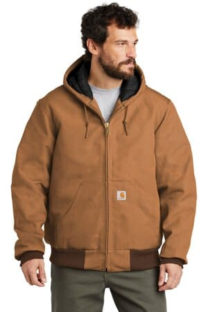 CTTSJ140 carhartt tall quilted-flannel-lined duck active jac
