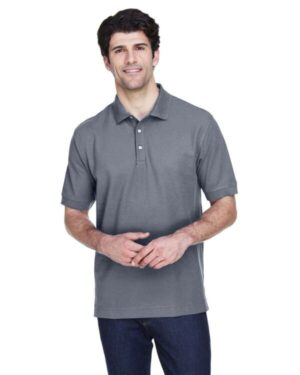 Devon & jones D100T men's tall pima piqu short-sleeve polo