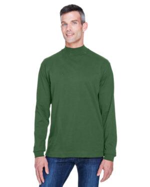Devon & jones D420 adult sueded cotton jersey mock turtleneck