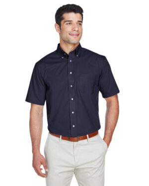 D620S men's crown woven collection solidbroadcloth short-sleeve shirt