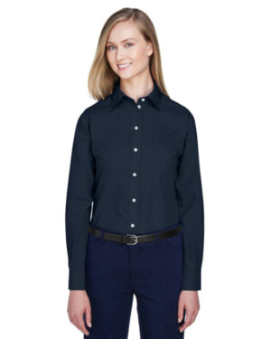 D620W ladies' crown woven collection solid broadcloth