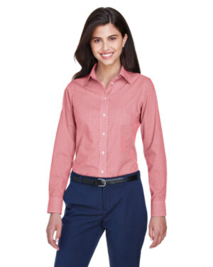 D640W ladies' crown woven collection gingham check