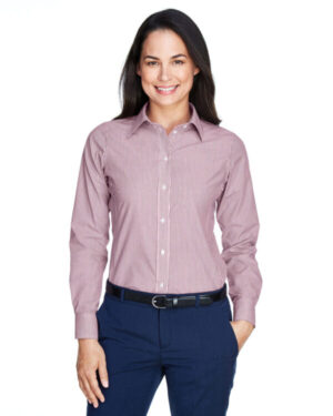 D645W ladies' crown woven collection banker stripe