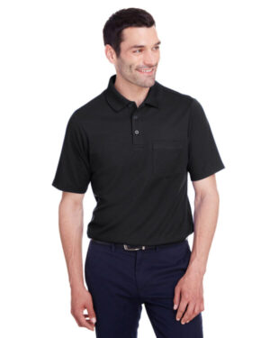 DG20P men's crownlux performance plaited polo with pocket