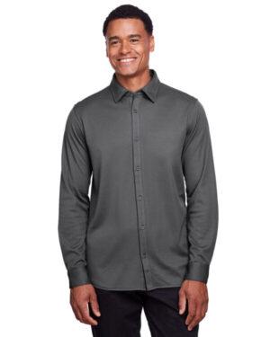 DG20Z men's crownlux performance plaited button-down shirt