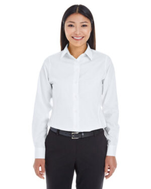DG532W ladies' crown woven ccollection royal dobby shirt