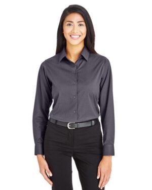DG535W crownlux performance ladies' tonal mini check shirt