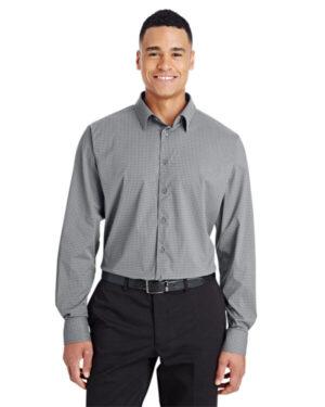 DG535 crownlux performance men's tonal mini check shirt