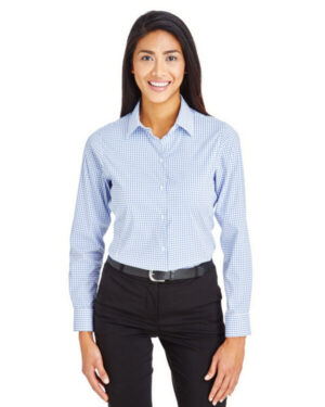 DG540W crownlux performance ladies' micro windowpane shirt