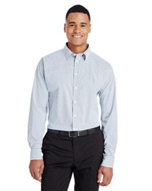 DG540 crownlux performance men's micro windowpane shirt