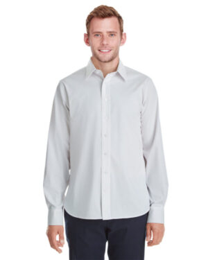 DG561 men's crown collection stretch broadcloth untucked shirt