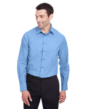 DG562 men's crown collection stretch pinpoint chambray shirt