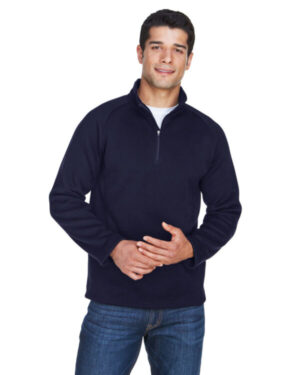 Devon & jones DG792 adult bristol sweater fleece quarter-zip