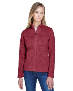 DG793W ladies' bristol full-zip sweater fleece jacket