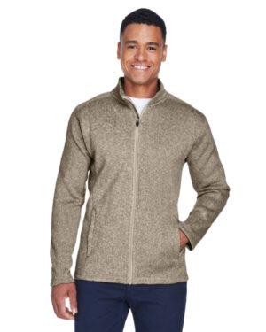 DG793 men's bristol full-zip sweater fleece jacket