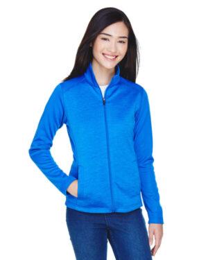 DG796W ladies' newbury colorblock mlange fleece full-zip