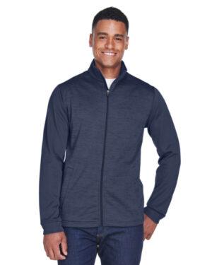 DG796 men's newbury colorblock mlange fleece full-zip