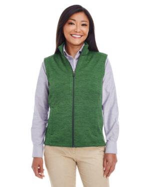 Devon & jones DG797W ladies' newbury mlangefleece vest