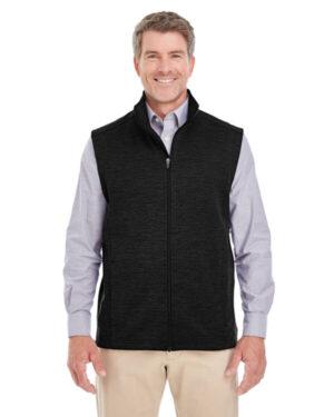 Devon & jones DG797 men's newbury mlangefleece vest