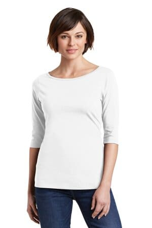 district women's perfect weight 3/4-sleeve tee dm107l