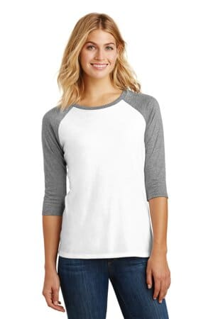 district women's perfect tri 3/4-sleeve raglan dm136l