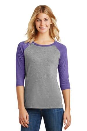 district women's perfect tri 3/4-sleeve raglan dm136l
