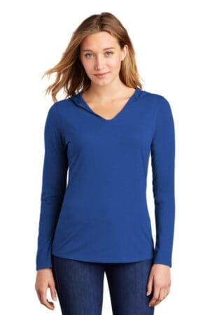 district women's perfect tri long sleeve hoodie dm139l