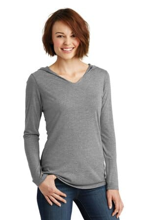 DM139L district women's perfect tri long sleeve hoodie