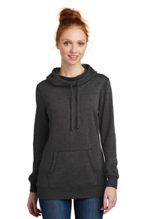 DM493 district women's lightweight fleece hoodie dm493