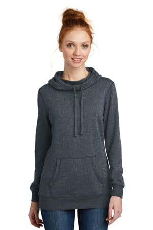 DM493 district women's lightweight fleece hoodie dm493