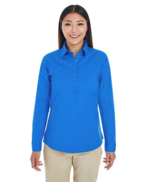 DP610W ladies' perfect fit half-placket tunic top