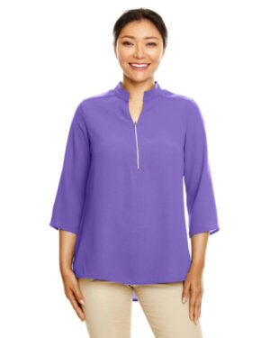 DP611W ladies' perfect fit 3/4-sleeve crepe tunic