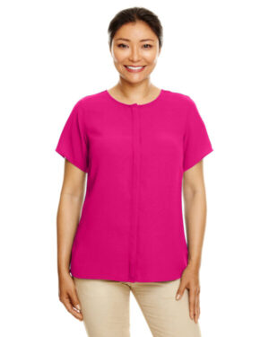 DP612W ladies' perfect fit short-sleeve crepe blouse