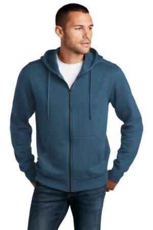 district perfect weight fleece full-zip hoodie dt1103