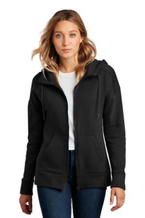 DT1104 district women's perfect weight fleece drop shoulder full-zip hoodie