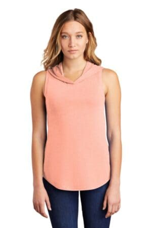 DT1375 district women's perfect tri sleeveless hoodie