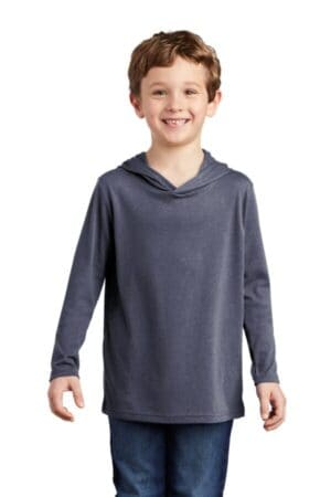 DT139Y district youth perfect tri long sleeve hoodie