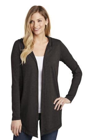 district women's perfect tri hooded cardigan dt156