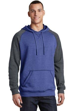 district young mens lightweight fleece raglan hoodie dt196