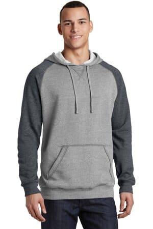 DT196 district young mens lightweight fleece raglan hoodie
